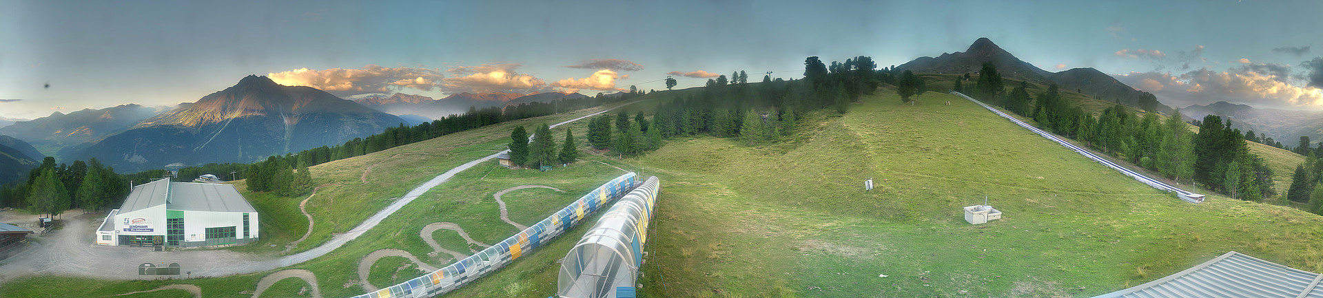 All-round view Schöneben mountain station
